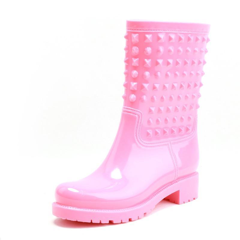MS musim gugur musim dingin modis sepatu anti air casual sepatu bot hujan  paku keling sepatu b7a2afbe9b