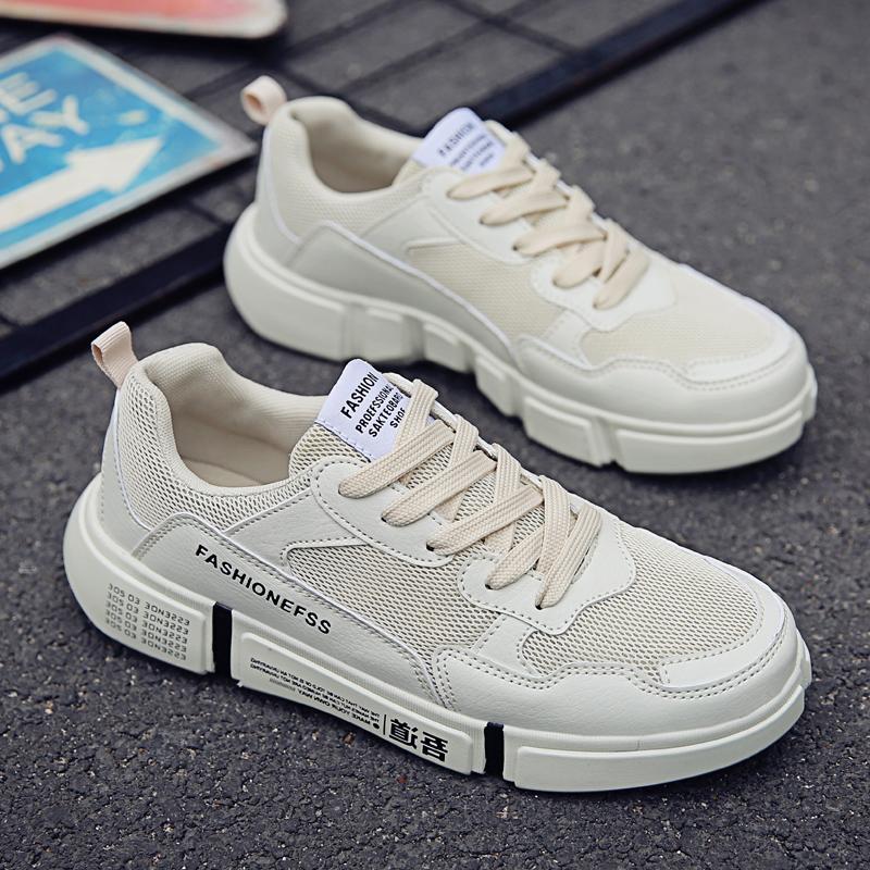 Sepatu pria musim gugur Pria Gaya Korea Tren netral casual Kain jaring  sepatu sneaker permukaan jala 22991998f0