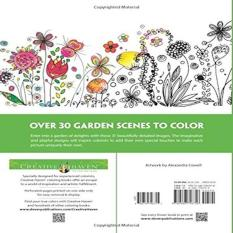 Creative Haven Whimsical Gardens Coloring Book Adult