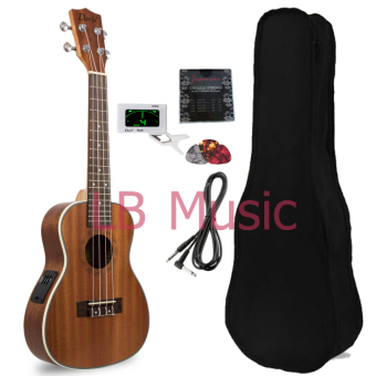 Davis Concert with Pickup and digital tuner Mahogany UkuleleUkelele (Natural)