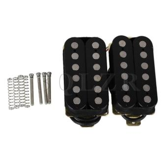 Electric Guitar Humbucker Pickup Double Coil Set of 2 Black