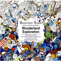 Hanyu Secret Garden Wonderland Exploration Coloring Book For Children Adult Relieve Stress Kill Time Graffiti Painting
