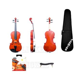 Jamine 4/4 Violin (Natural Glossy) with Shoulder Rest and String