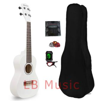 Jasmine Concert with tuner Colored Ukulele Ukelele complete set(WHITE)