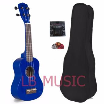 Jasmine Soprano Colored Ukulele Ukelele Complete Set (Blue)