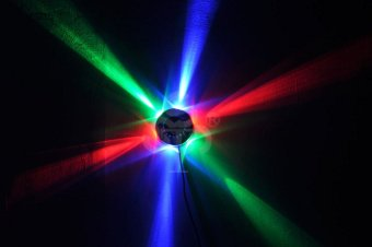 LED RGB Crystal Magic Ball Stage Lighting Light For Disco Dj Bar orParty