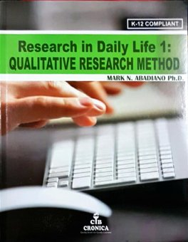 Research in Daily Life 1: Quantitative Research Method Book