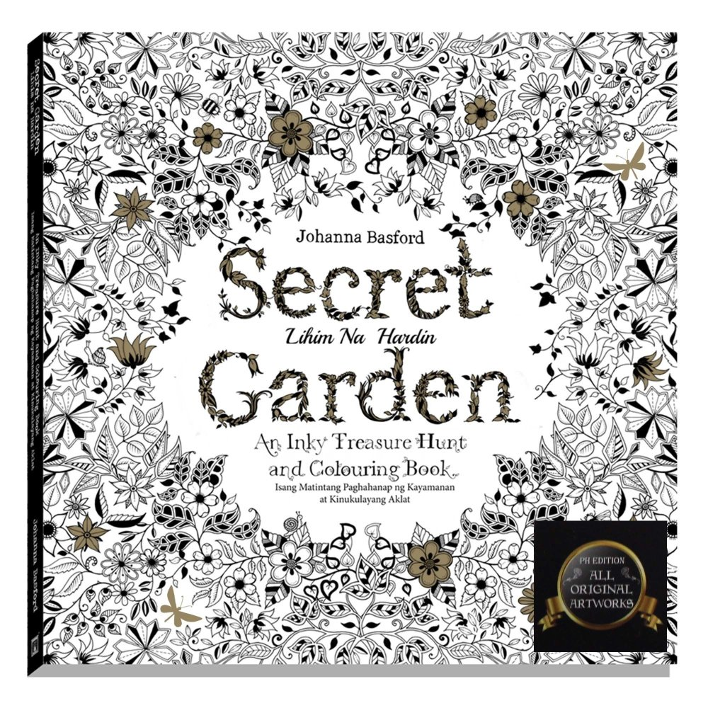 Stress coloring books for adults - Secret Garden Adult Coloring Book The Filipino Edition