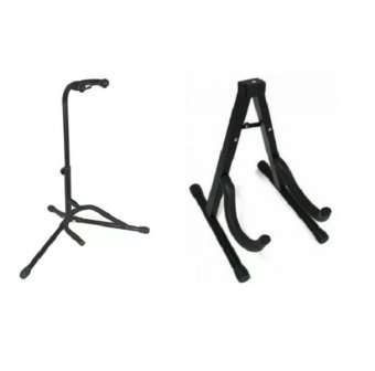 tubular guitar stand with heavyduty portable guitar stand black lazada ph. Black Bedroom Furniture Sets. Home Design Ideas