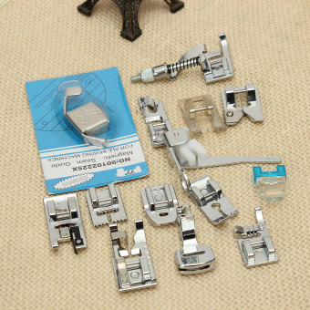 14Pcs Household Sewing Machine Presser Foot Feet Set For Brother Singer Janome (Intl) - intl