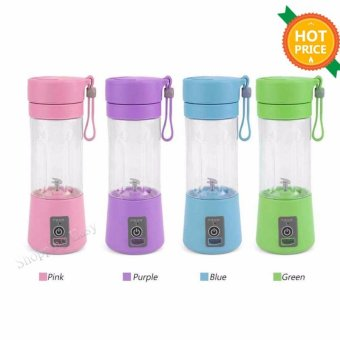 380ml USB Electric Handheld Smoothie Maker Blender Rechargeable Mini Portable Juice Cup Water Bottle 4 Colors - intl