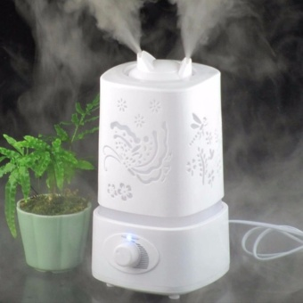 Accelerator 1.5L Ultrasonic Air Humidifier with LED Light Changing Assorted design (White)