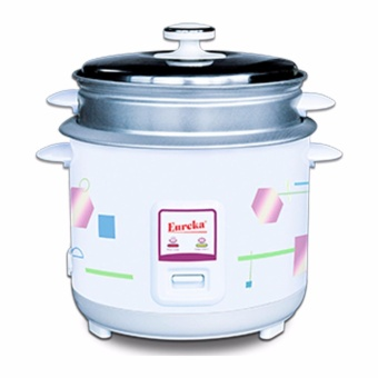 Eureka ERC-2.5L Rice Cooker With Steamer (15Cups) (White)