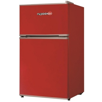 Fujidenzo 3.5 cu. ft. Two-Door Personal Refrigerator RDD-35R (LuckyRed)