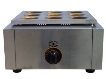 Japanese 9 Holes Molder Gas Type Cake Maker (Silver)