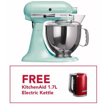 kitchenaid 5qt artisan stand mixer 220v ice with free kitchenaid 1