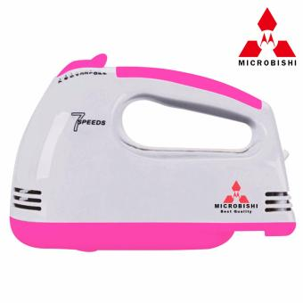 Microbishi 7 Speed Super Hand Mixer Turbo Switch HE-133/MHM-502/777PINK(Pink)