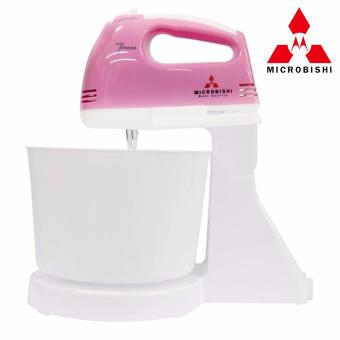 Microbishi MHM-503/MHM-888 Super 7-Speed Stand Mixer with Bowl(Pink) #29816