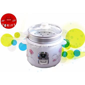 Micromatic MRC-838D 1.8 L Rice Cooker WITH Steamer (White)