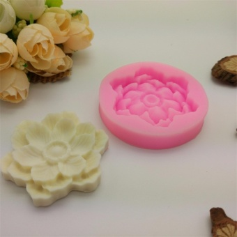 Silicone Molds Flower Handmade Soap Mold Liquid Sugar Mold Baking Tools - intl