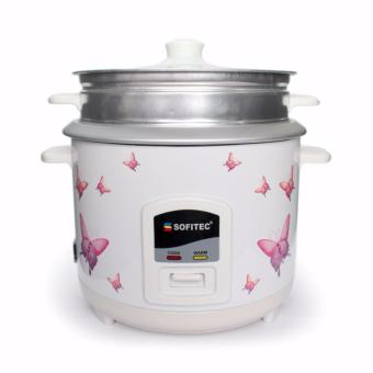Sofitec Rice Cooker with Steamer 1.8Liters SRC-2118 (White)