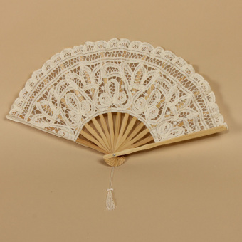 Vintage Lady Handmade Cotton Lace Parasol Umbrella Wedding Bridal Party Decor