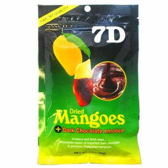 7D Dried Mangoes Dark Chocolate Enrobed 80g
