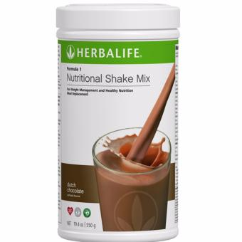 Herbalife F1 Nutritional Shake Dutch Choco 550g Canister