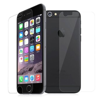 2 in 1 Tempered Glass for iPhone 6 (Clear)