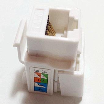 20 Pcs Cat6 RJ45 Keystone Jack in White and Keystone Punch-Down Stand - Intl