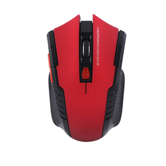 2.4Ghz Mini Portable Wireless Optical Gaming Mouse Mice For PC Laptop Red - intl