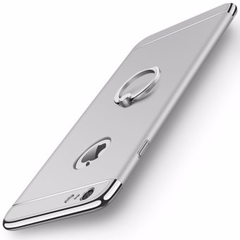 3 in 1 Ultra Slim Metal Hybrid Anti-skidding Hard PC Back CaseCover With Ring Kickstand for Apple iPhone 6/6S(Silver) - intl
