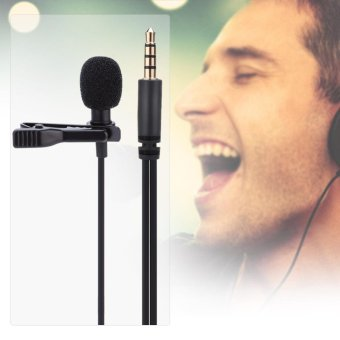 3.5mm Jack Mini Wired Clip-on Lapel Hands Free Headset MicrophoneMic - intl