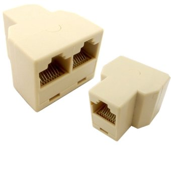 5 Pcs 3 Way RJ45 CAT 5 LAN Ethernet Network Splitter Cable Coupler Connector Adapter - intl