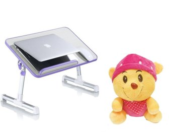 A8 Multi-angle Folding USB Fan Laptop Table with Bear Doll