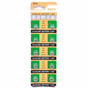 AG3 392 CX41 LR41W Alkaline Cell Button Battery 10 Pieces