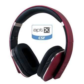 August EP650 Bluetooth Wireless Stereo Headphone Earphone with Microphone and NFC (Red) - Intl