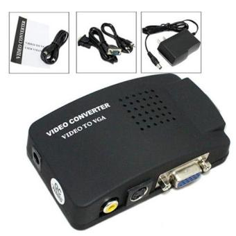 AV Composite RCA S-Video To VGA Monitor Video Adapter PC HDTV CCTVDVD Converter