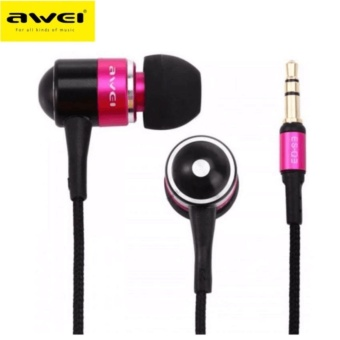 Awei ES-Q3 In-Ear Earphone Noise Isolation(Pink)