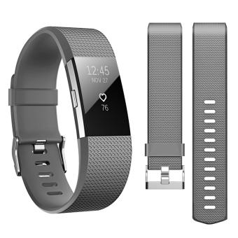 Band for Fitbit Charge 2 , Hanlesi Soft TPU Silicone AdjustableReplacement Sport Strap Band for Fitbit Charge2 Smartwatch HeartRate Fitness Wristband 3.5 - intl