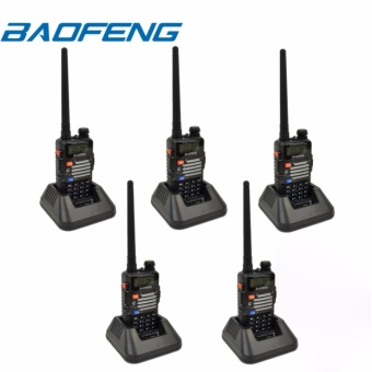 BAOFENG UV-5R Dual Band (VHF/UHF) Analog Portable Two-way Radio Set of 5