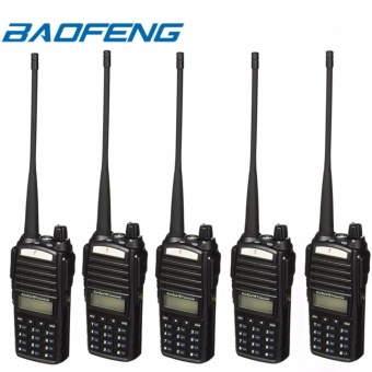 BAOFENG UV-82 Dual Band (VHF/UHF) Analog Portable Two-way Radio Set of 5