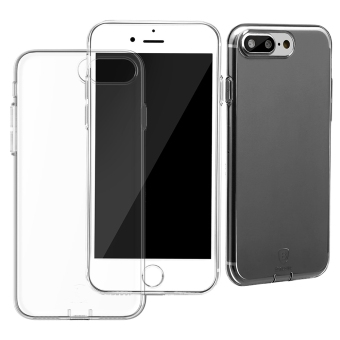 Baseus Ultra Slim Phone Case Transparent Dustproof for iphone 7 Plus(Black)