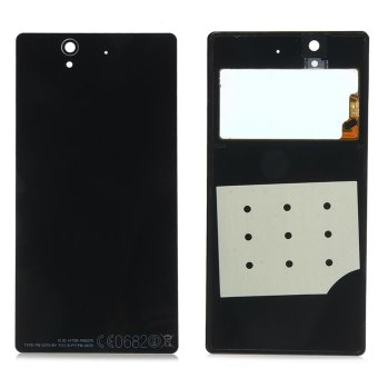 Battery Door Back Cover Case Housing Replacement With Nfc Adhesive For Sony Xperia Z L36H L36I L36 C6603 C6602 Lt36(Black) - intl