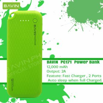 BAVIN PC171 12000mAh Quick Charging Power Bank (Green)