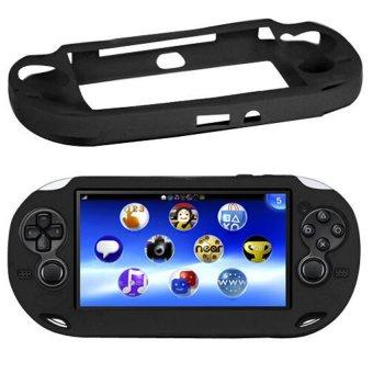 Black Soft Silicone Skin Protector Cover for Sony PS Vita Console PSP vita shell