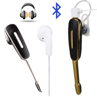 Bluetooth HandFree Stereo Headset Earphone Headphone Earpiece with MIC For Phone - intl