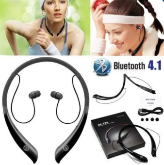 Bluetooth Headphone Wireless Sport Hand-Free Neckband Headset Earphone Neck-strap Sweat-proof Outdoor Sport Wireless Stereo Bluetooth In-ear Earphone With Microphone for Phone Android - intl