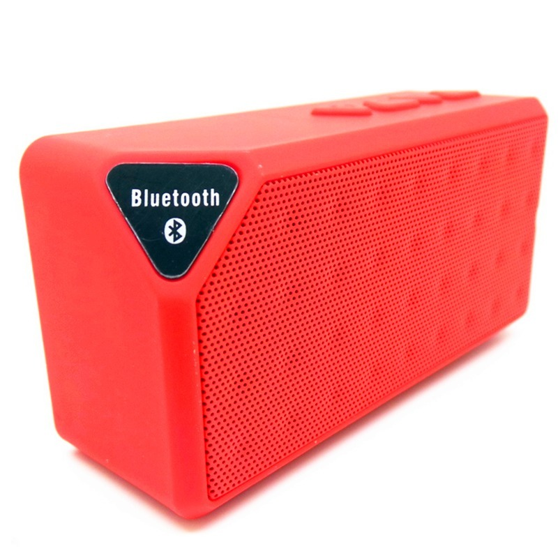 Mr.J Extra Bass Bluetooth Portable Speaker (Red)