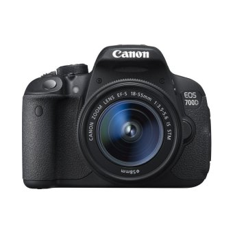 Canon EOS 700D 18MP with EF-S 18-55mm IS STM Lens Kit (Black)